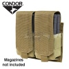 Double M14 Magazine Pouch (holds 4 mags) Tan CONDOR