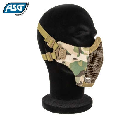 Half Face Mesh Mask Multicam with Cheek Pads ASG