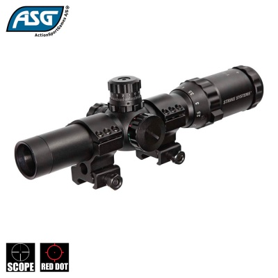 1-4x24 Short Red/Green Dot Scope ASG