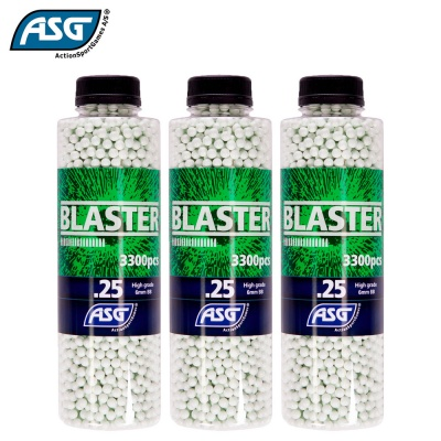 3x Blaster 0.25g BBs Bottle of 3300 ASG