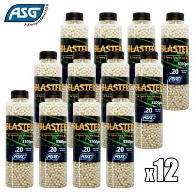 12x Blaster 0.20g Tracer BBs Bottle of 3300 ASG