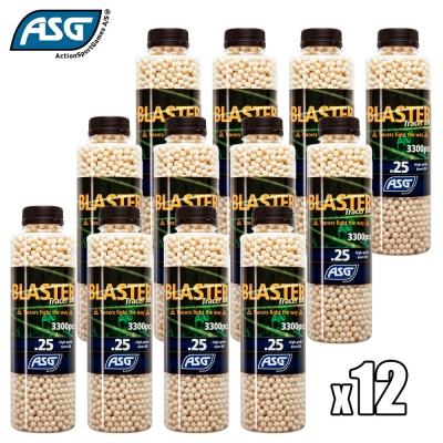 12x Blaster 0.25g Tracer BBs Bottle of 3300 ASG