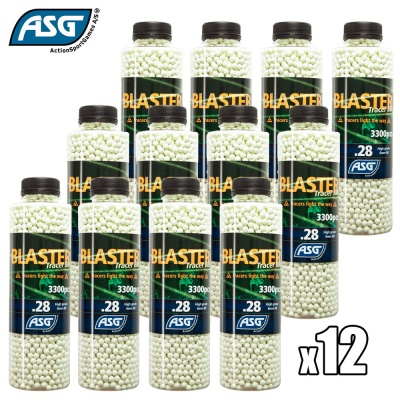 12x Blaster 0.28g Tracer BBs Bottle of 3300 ASG