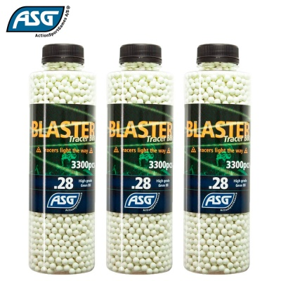 3x Blaster 0.28g Tracer BBs Bottle of 3300 ASG