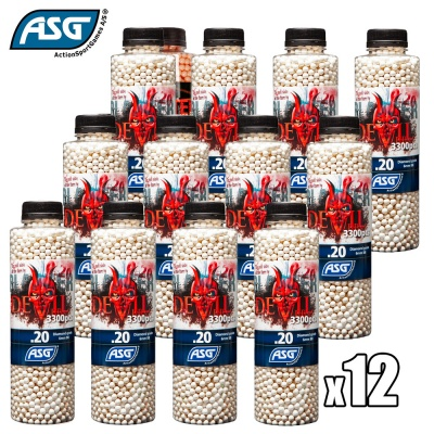 12x Blaster Devil 0.20g BBs Bottle of 3300 ASG