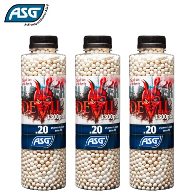 3x Blaster Devil 0.20g BBs Bottle of 3300 ASG
