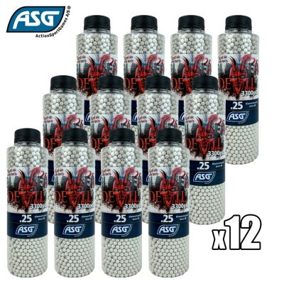 12x Blaster Devil 0.25g BBs Bottle of 3300 ASG