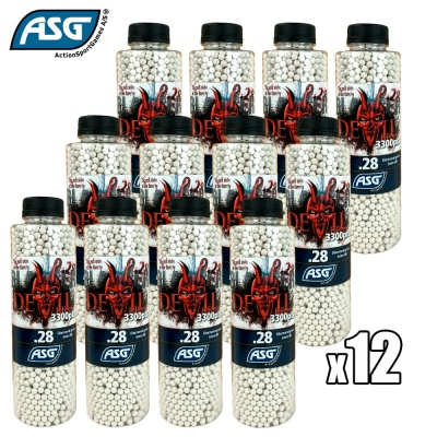 12x Blaster Devil 0.28g BBs Bottle of 3300 ASG