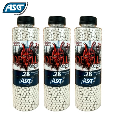 3x Blaster Devil 0.28g BBs Bottle of 3300 ASG