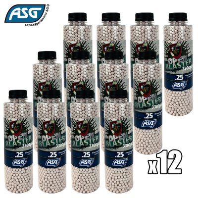 12x Open Blaster 0.25g BBs Bottle of 3300 ASG