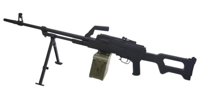 PKM Black Support Rifle AEG A&K