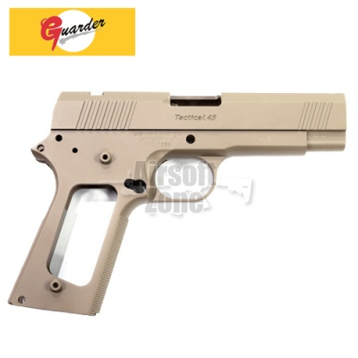 Aluminium Slide and Frame for MARUI Desert Warrior 4.3 (TAN) Guarder