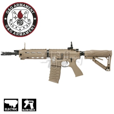 GR4 G26 Advanced M4 Carbine (with Laser and LED torch) Tan Blowback AEG G&G