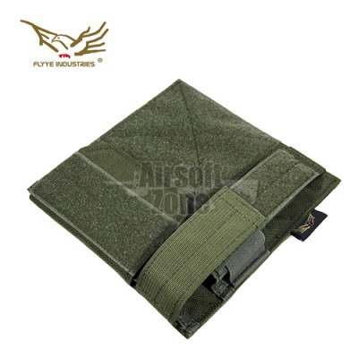 Admin Panel with Pistol Pouch OD Green MOLLE FLYYE