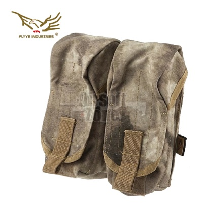 Double AK Magazine Pouch (holds 4 mags) A-Tacs MOLLE FLYYE