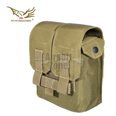 M249 200rds Ammo Pouch Khaki MOLLE FLYYE