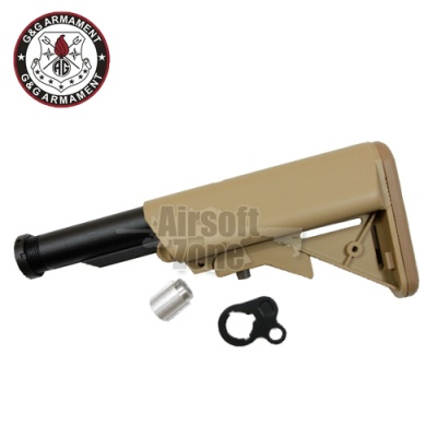 M4 Crane Stock with Stock Tube for GR16 Tan (QD Battery Type) G&G