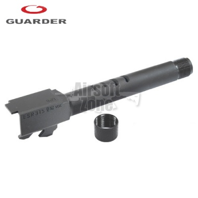 Steel Threaded (14mm Negative) Outer Barrel for TM Glock 18C (2012 New Version) Guarder