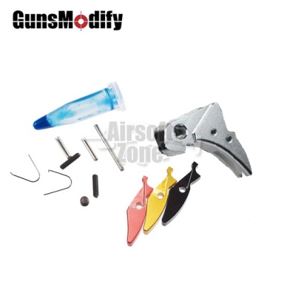 SAI Aluminium Silver Adjustable Trigger Ver 2 for Marui Glock Series Guns Modify