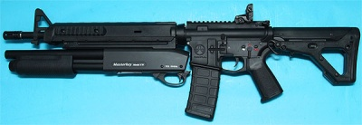 M4 Magpul Battle Rifle with Masterkey Shotgun Black AEG G&P