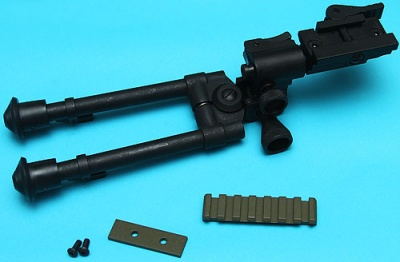 Reinforced RIS Bipod (Long) with M14 DMR Rail Foliage Green G&P