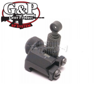 Military 600m Flip Up Rear Sight G&P