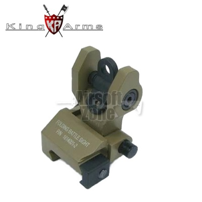 Rear Folding Battle Sight Dark Earth King Arms