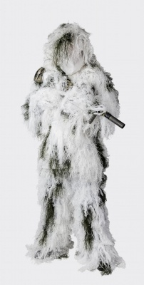 Ghillie Suit Snow Camo Set HELIKON