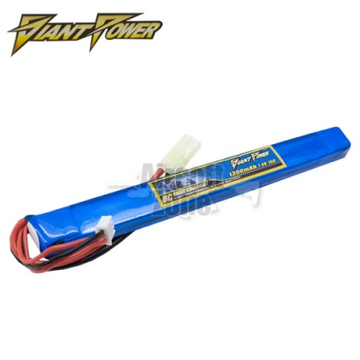 7.4V 1300mAh 15C LiPo Stick Battery Giant Power