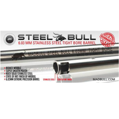 247mm Stainless Steel 6.03mm Tight Bore Barrel MADBULL