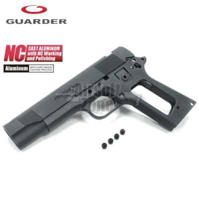 Aluminium Slide & Frame for MARUI MEU.45 (2015 New Version/Black) Guarder