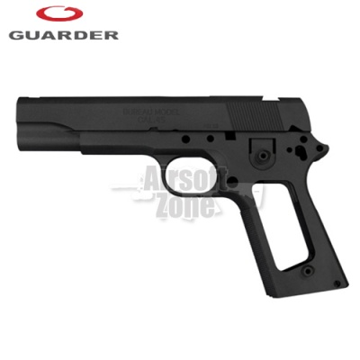 Aluminium Slide & Frame for MARUI MEU.45 (FBI/Black) Guarder