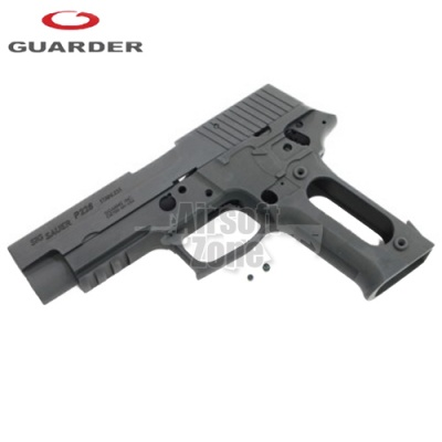 Aluminium Slide and Frame for MARUI P226 Rail (2010 New Version) Black Guarder