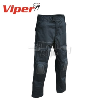 Elite Tactical Trousers with Knee Pads Black Viper Tactical