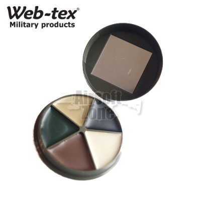 MTP 5 Colour Camo Face Paint with Mirror WEB-TEX