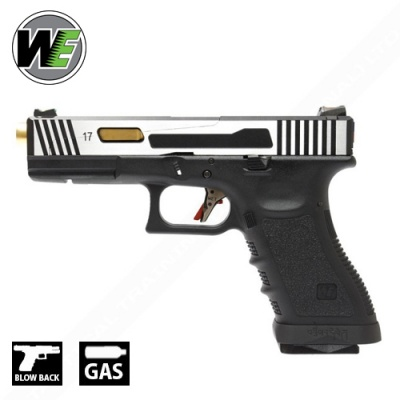 G17 Hi-Speed 2T (CNC Aluminium Slide) Full Metal Pistol GBB WE