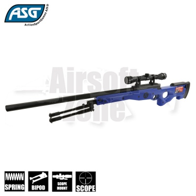 AW .308 Spring Sniper Rifle (Two Tone Blue) with Scope & Bipod ASG