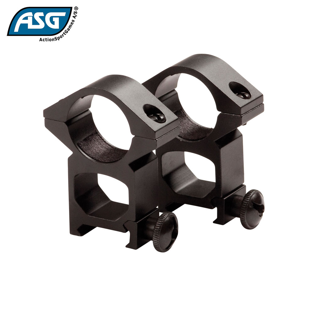 20mm High 1'' Scope Mount Rings ASG