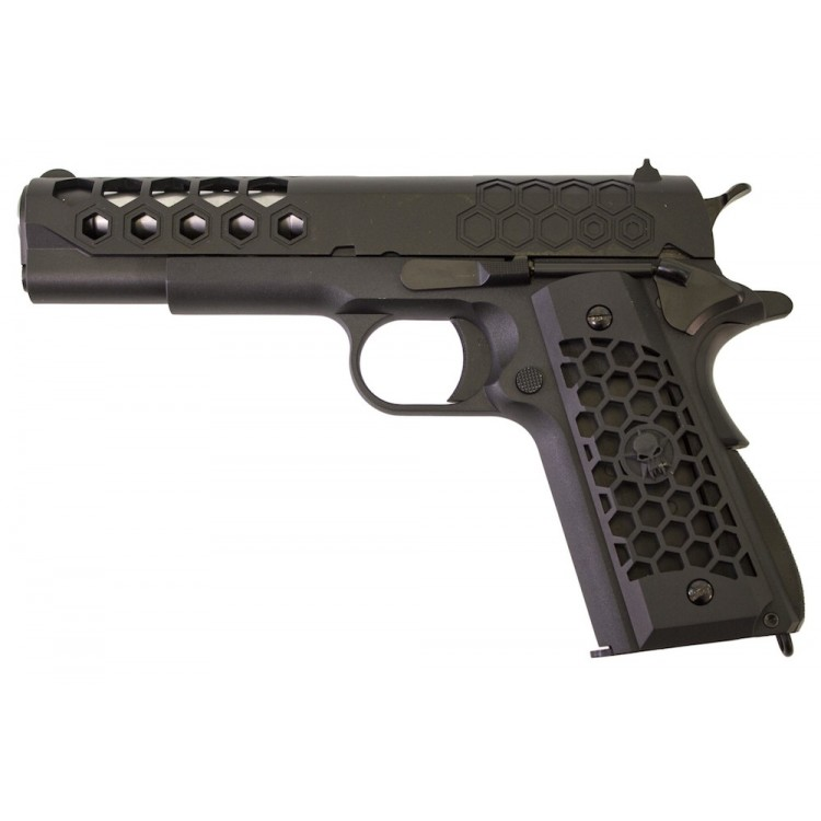 M1911 Hex Full Metal Black Pistol GBB WE