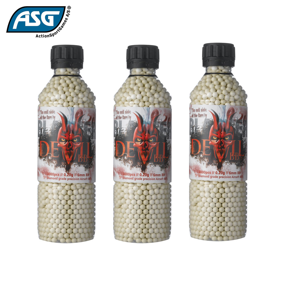 3x Blaster Devil 0.20g BBs Bottle of 3000 ASG