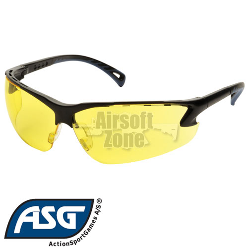 Yellow Lens Protective Glasses with Adjustable Temples ASG