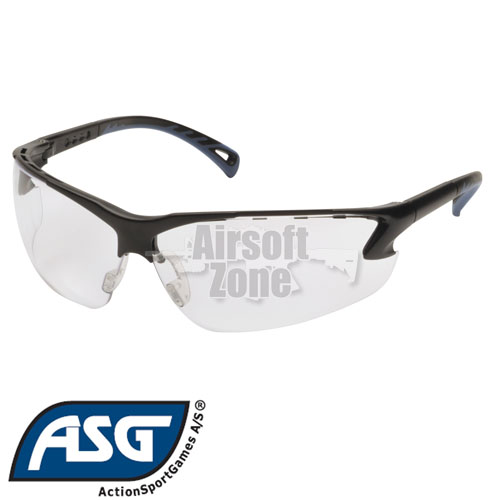 Clear Lens Protective Glasses with Adjustable Temples ASG