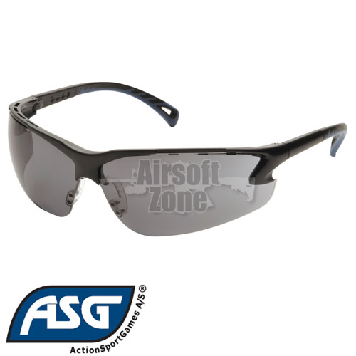 Smoke Lens Protective Glasses with Adjustable Temples ASG
