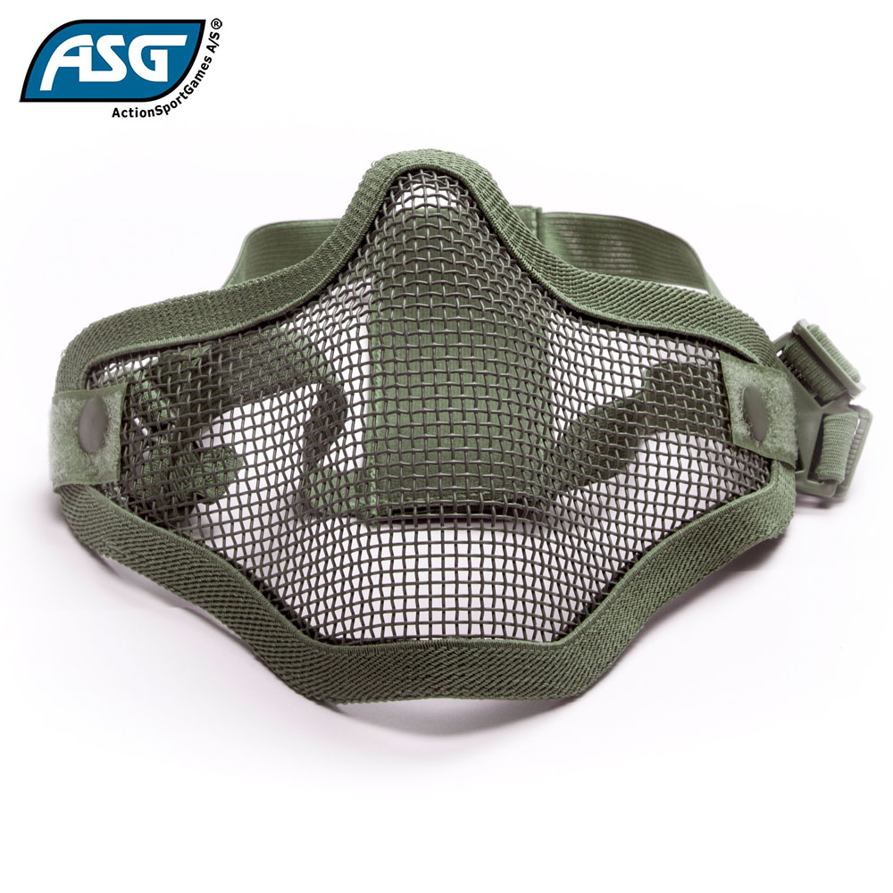 Half Face Mesh Mask OD Green with Double Strap ASG