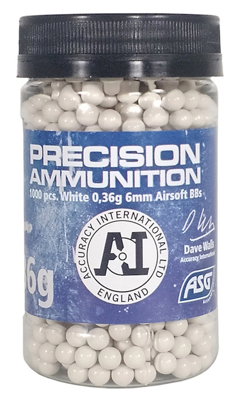 0.36g Precision Ammunition BBs Bottle of 1000 ASG