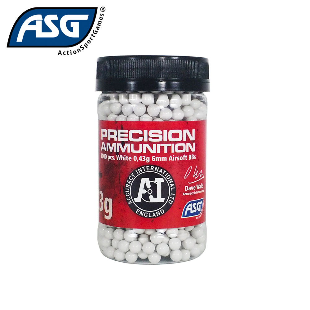 0.43g Precision Ammunition BBs Bottle of 1000 ASG