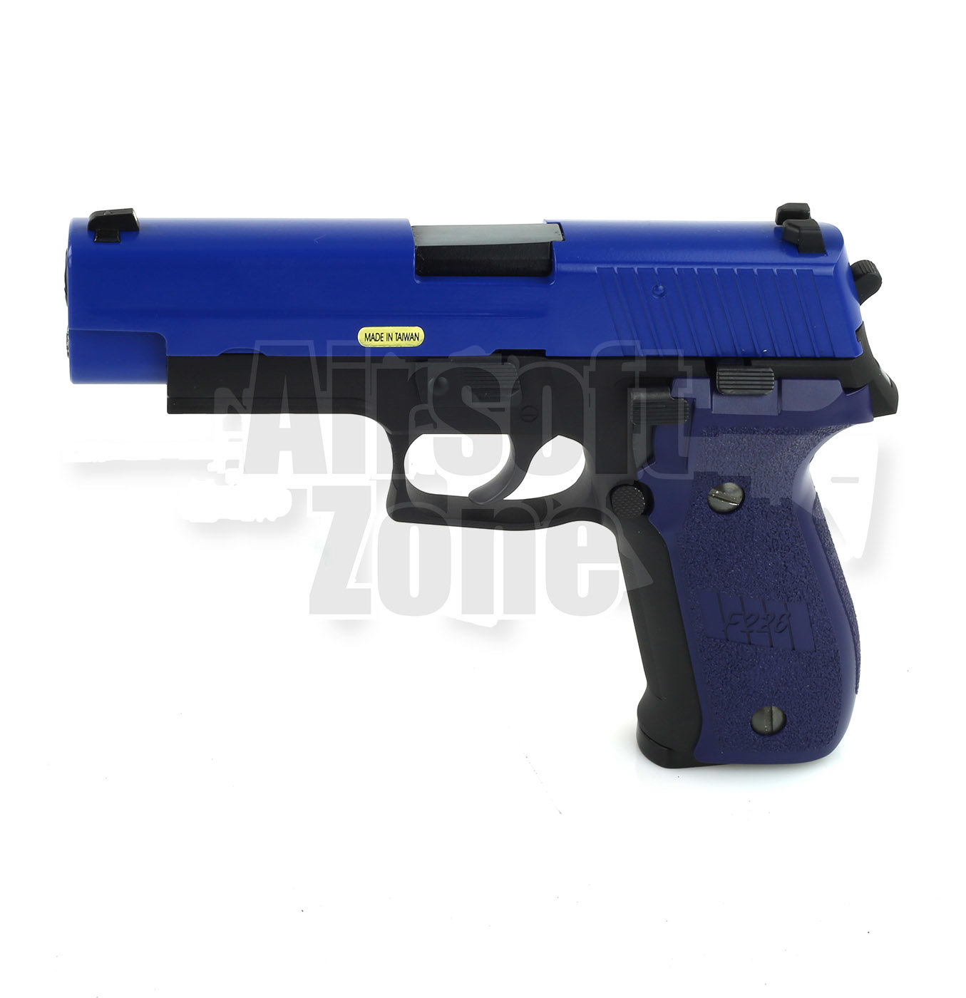 SG P226 with Rail Full Metal Pistol Two Tone Blue GBB WE