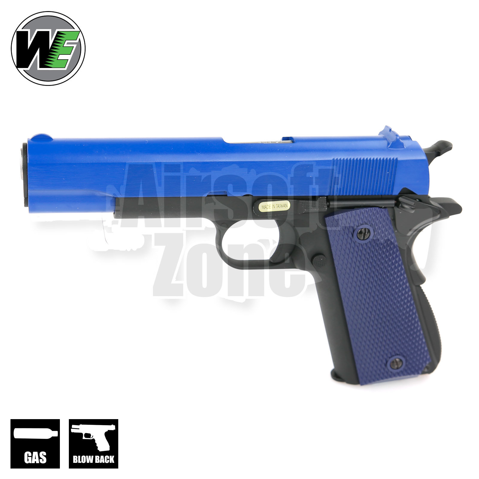 M1911A1 Full Metal Pistol Two Tone Blue GBB WE