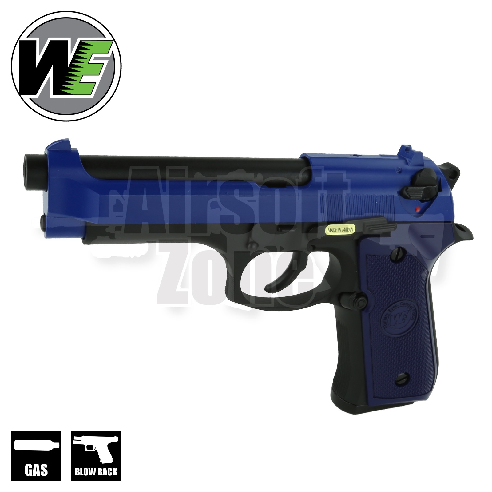 M92 Full Metal Pistol Two Tone Blue GBB WE