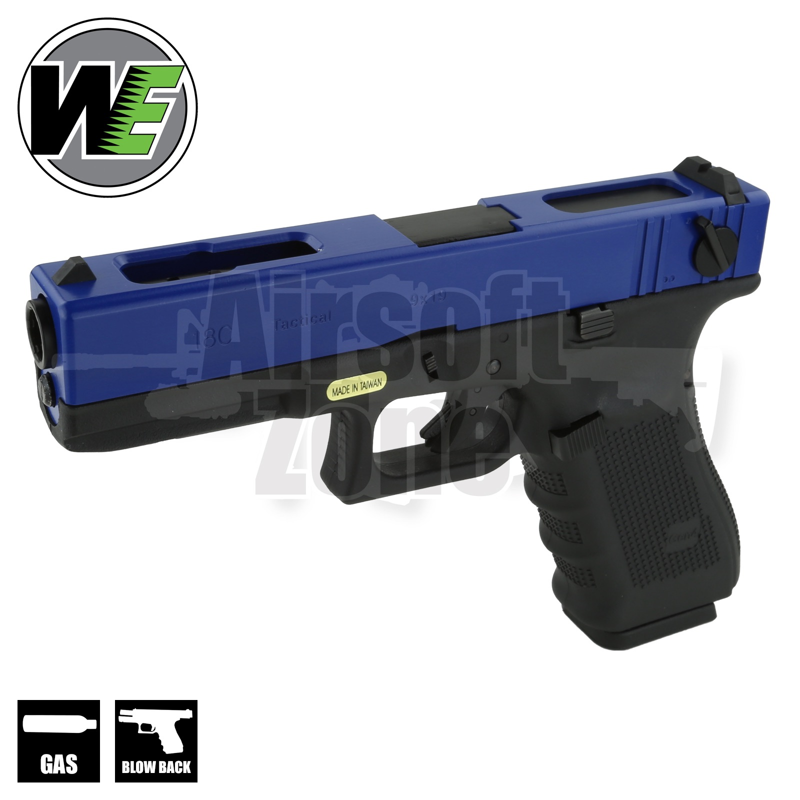 EU18C Gen4 Full Auto Pistol Two Tone Blue GBB WE